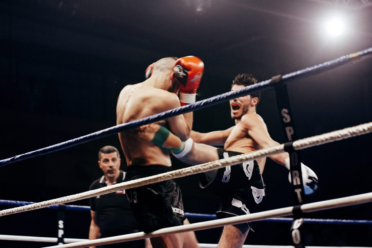 two fighters in the ring, much like fighting porn addiction
